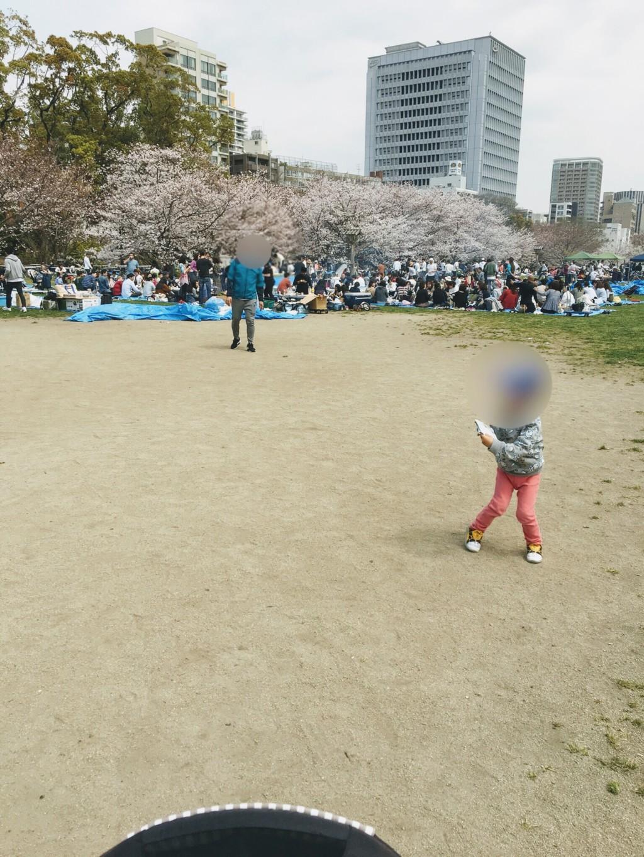 福岡の舞鶴公園に子連れで行った時に画像