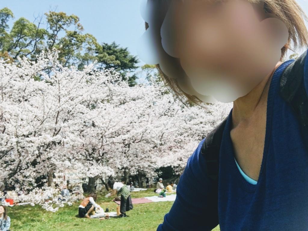 福岡の舞鶴公園に子連れで花見に行った画像