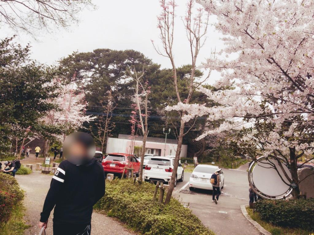 福岡市の西公園に子連れで行った駐車場画像