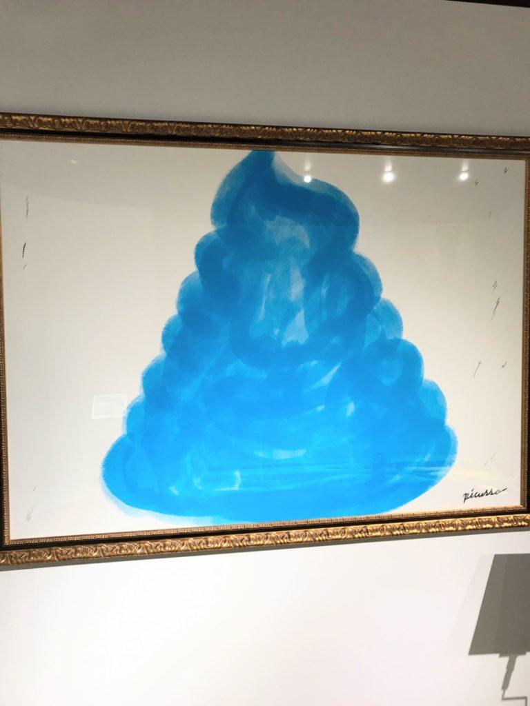 うんこ展示会の巨大うんこ絵画像