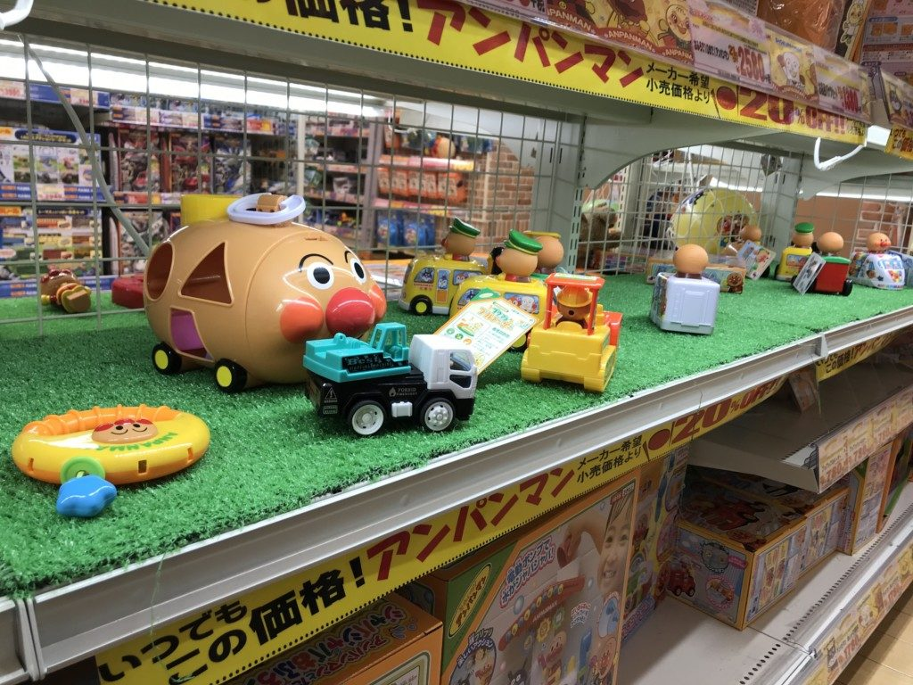 メガドンキ福重店のアンパンマンのおもちゃで遊べるコーナー画像