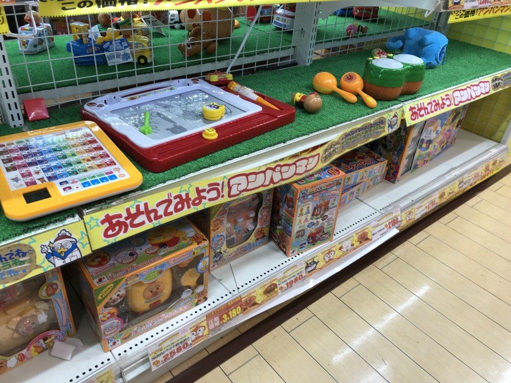 メガドンキ福重のおもちゃ屋でこのもが遊べるコーナーの画像