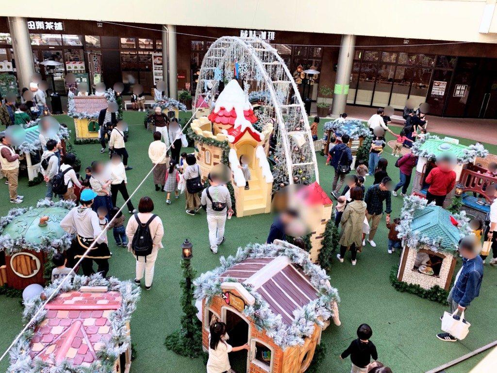 木の葉モール橋本のイルミネーション子供の遊具混雑状況画像