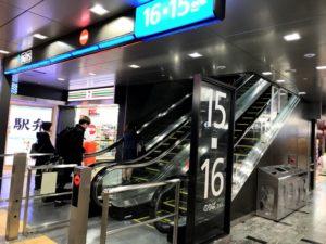 博多駅から博多南行きの新幹線乗り場近くのセブンイレブンの画像