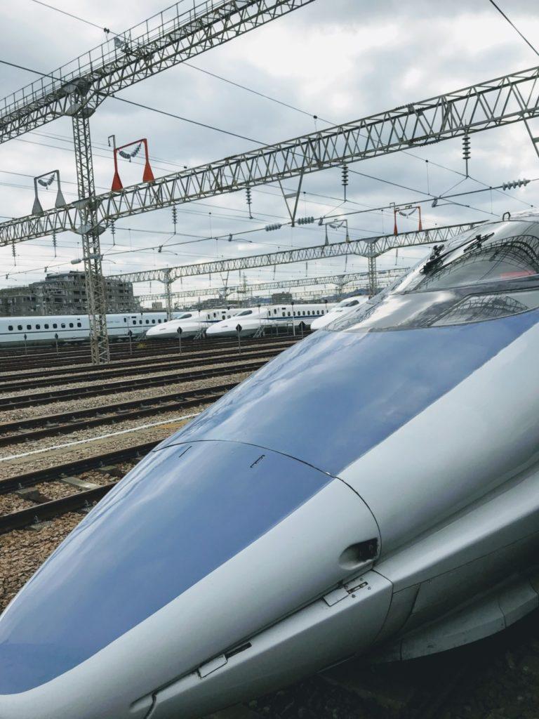 博多駅から乗った新幹線こだまの画像