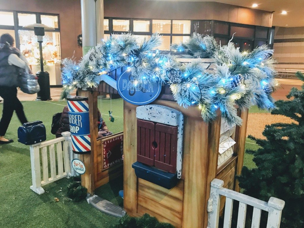 木の葉モールのクリスマスイルミネーション散髪屋の画像
