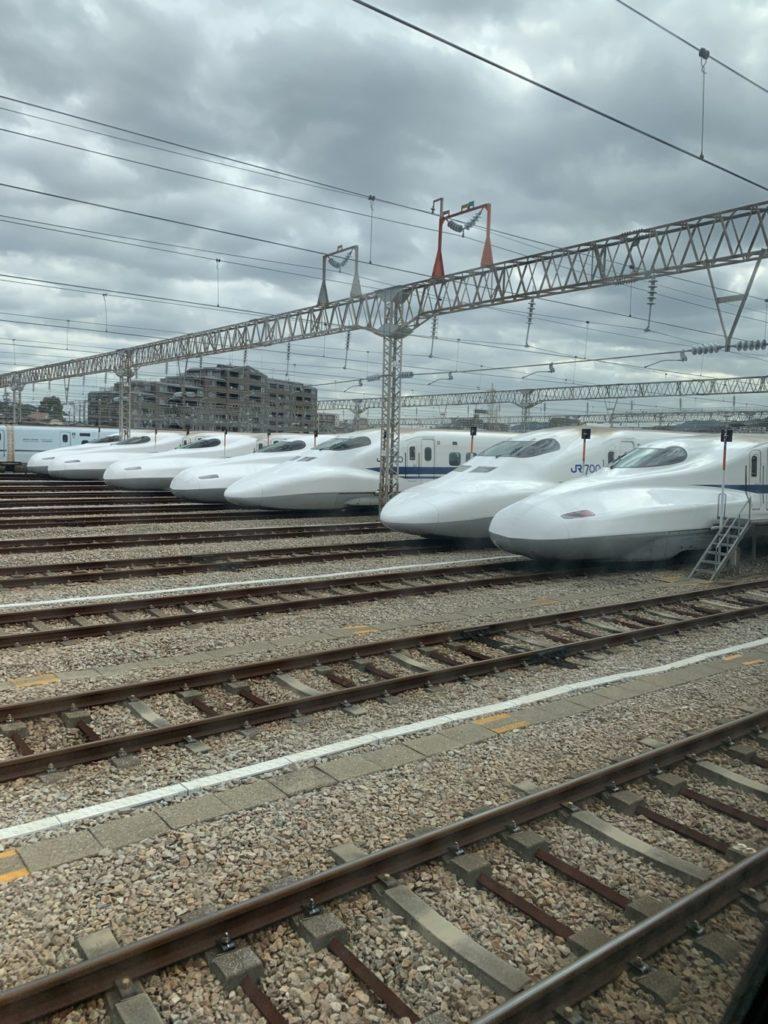 300円で新幹線に乗って博多南駅の車両基地を撮影した画像