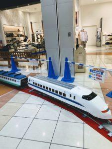 イオン福岡伊都店の鉄道まつりのミニ新幹線の画像