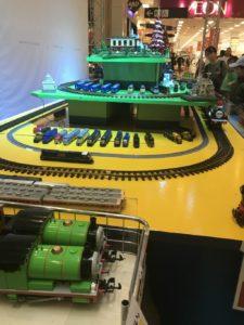 福岡イオンの鉄道まつりのプラレールやトーマスの模型画像