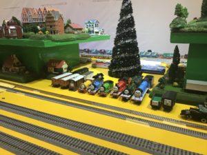 福岡イオンの鉄道まつりのジオラマやトーマスの電車の画像