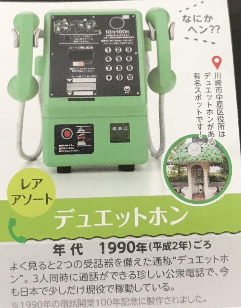 NTT東日本 公衆電話ガチャコレクションのラインナップデュエットホンの画像