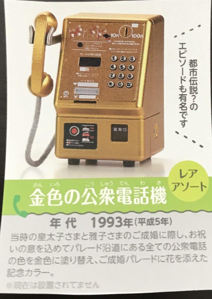 NTT東日本 公衆電話ガチャコレクションのラインナップ画像