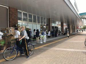 MIGNON(ミニヨン)姪浜店クロワッサンを買いに行列に並んだ混雑状況の画像