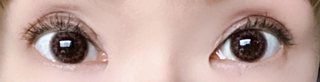 まつ毛美容液エマーキット使用前のマスカラを塗った状態画像