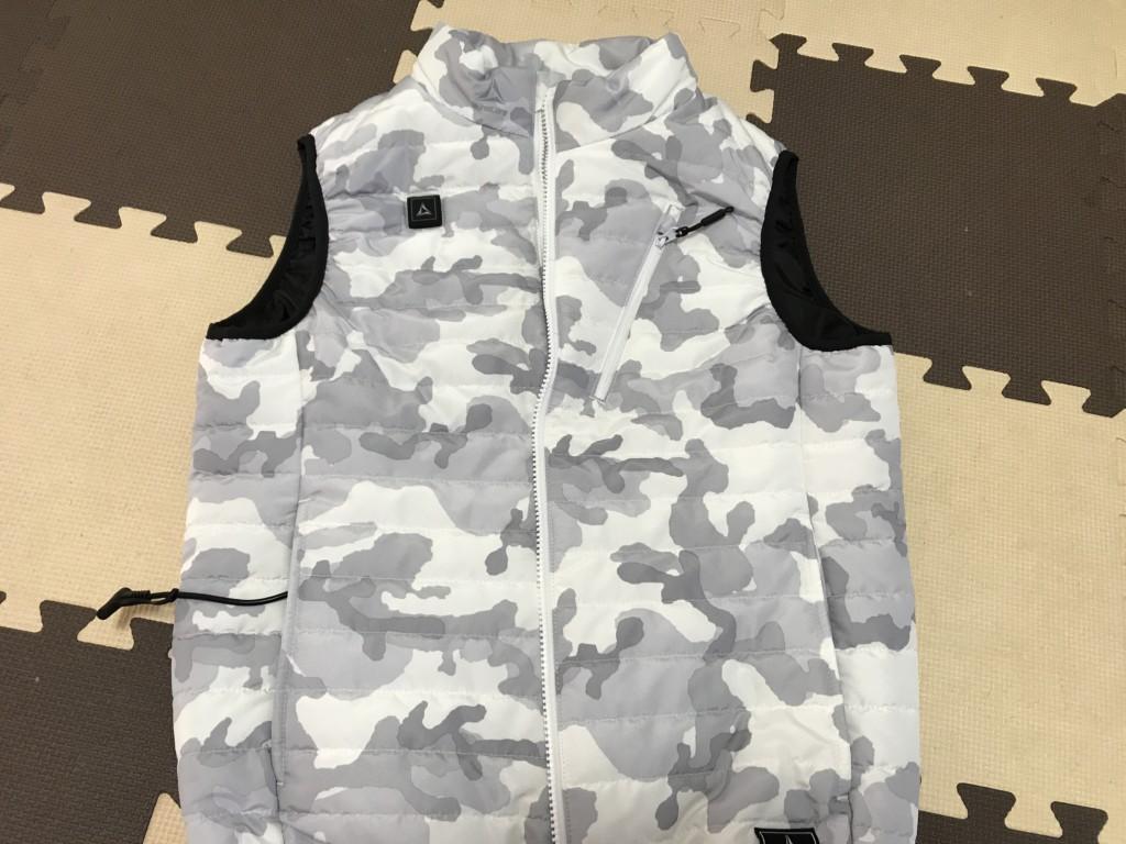 ワークマンの着るコタツヒーターベストの画像 カモフラ
