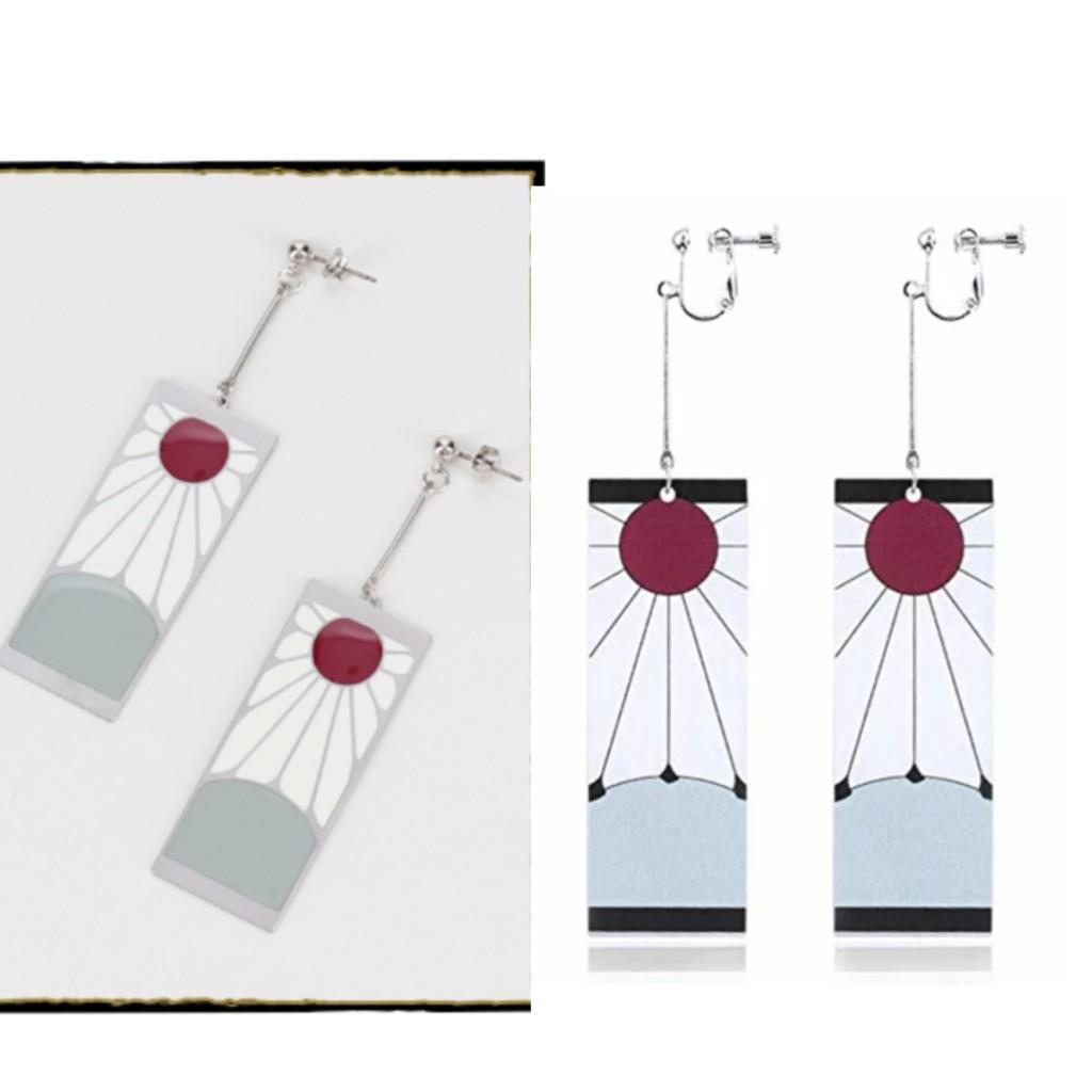 鬼滅の刃の炭治郎の耳飾りの違いがわかる比較画像
