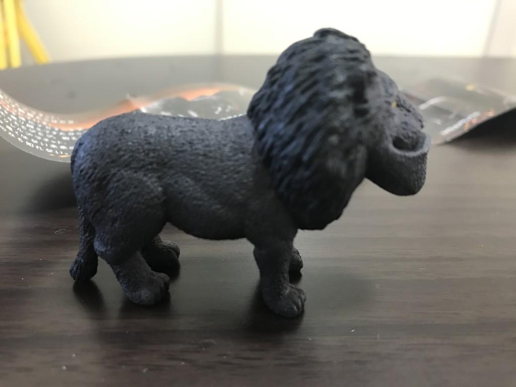 シャクレルブラックのガチャガチャのシャクレルブラックライオンの画像