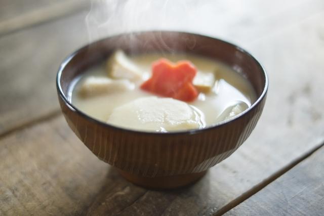 お雑煮の白味噌の具材画像