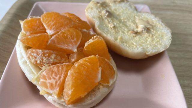 【シューイチ】みかんのピーナツバターサンド作り方を画像付きで紹介