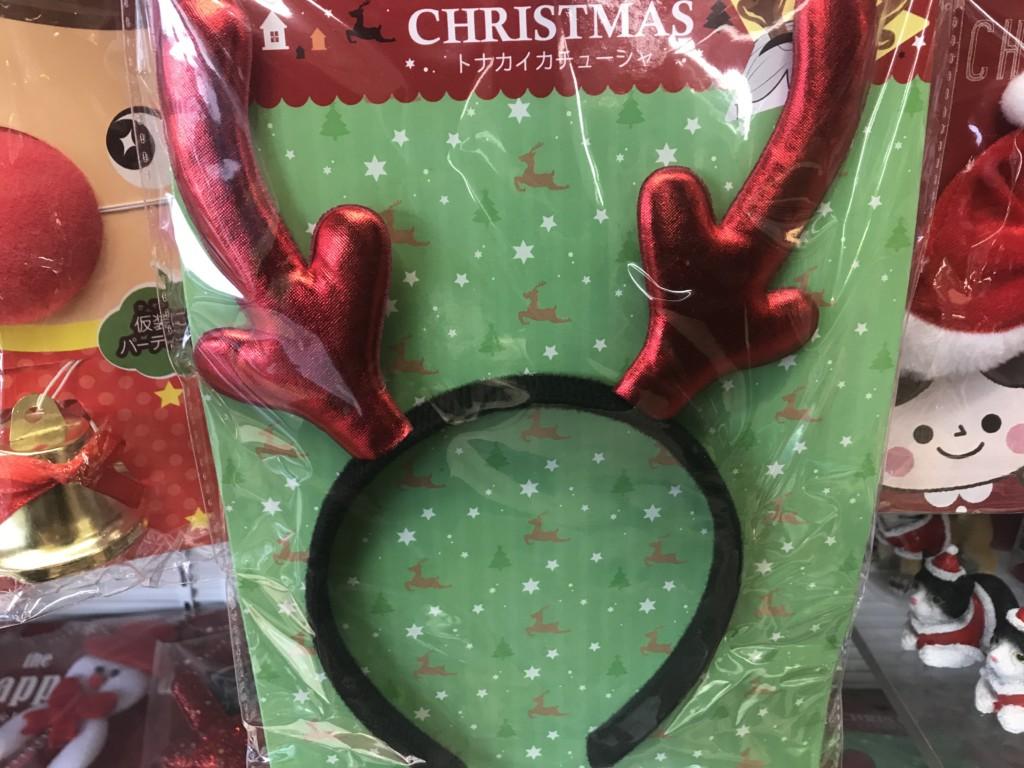 100均一セリアに売ってるクリスマスカチューシャのトナカイカチューシャの画像