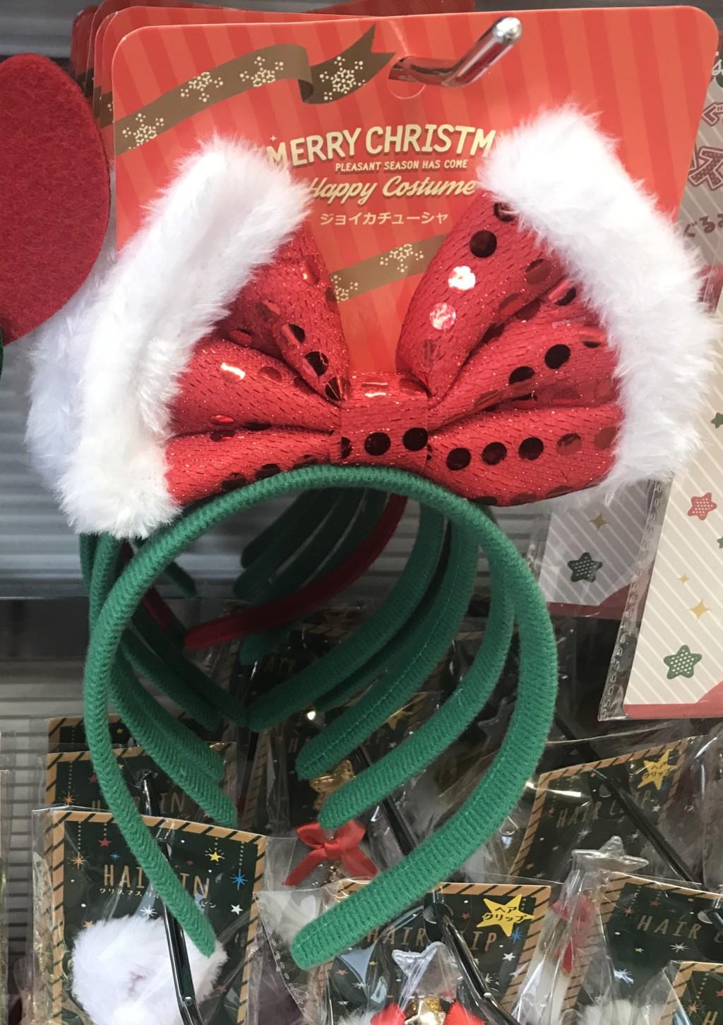 100均一セリアに売ってるクリスマスカチューシャのジョイカチューシャの画像