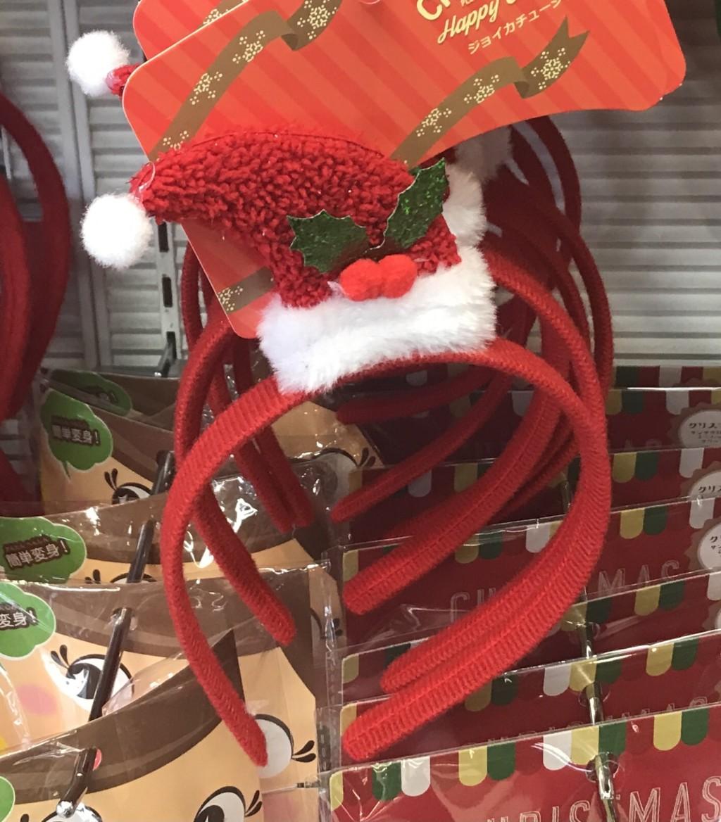 100均一セリアに売ってるクリスマスカチューシャ。ジョイカチューシャ画像